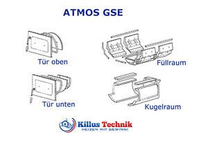 ATMOS Keramik für DC22GSE Füllraum, Kugelraum, Tür / Schamott, Dichtung, Düse