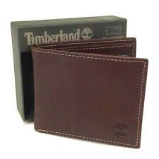NEW Genuine TIMBERLAND Mens Brown Leather Bifold Wallet - D02387/01 GIFT BOXED