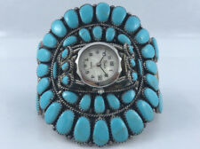 Native American Sterling Silver and Turquoise Watch Statement Ladies (Medium)
