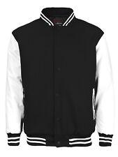 New Men's Premium Classic Snap Button Vintage Baseball Letterman Varsity Jacket