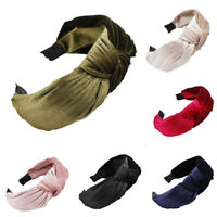 Fashion Girls Knot Hair band Simple Velvet Hair Headband Solid Color Accessory