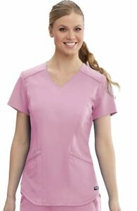 """Grey's Anatomy Style #122 V-Neck Detailed Scrub Top in """"Orchid"""" Size M"""