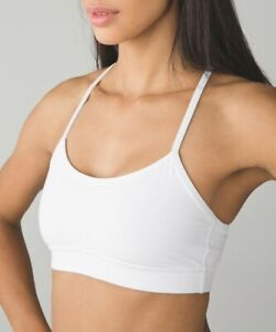 LULULEMON flow y bra in white size 4