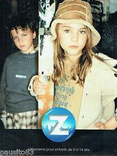 PUBLICITE ADVERTISING 016  2003  Z   vetements pret à porter enfants