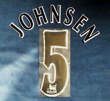 Lextra 1997-2007 EPL Manchester United Player Issue Shirt Black Johnsen 5 Set