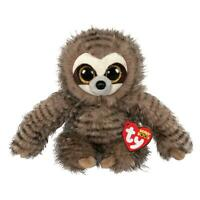 "2019 TY Beanie Boos 6"" SULLY the Sloth Stuffed Animal Plush MWMTs Ty Heart Tags"