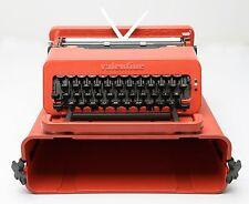VINTAGE OLIVETTI VALENTINE RED TYPEWRITER IN ORIGINAL CASE - WORKS NICE!!!