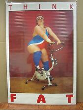 vintage Think Fat 1985 funny vintage poster 4988