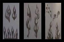 Airbrush Schablonen Set Flammen 1