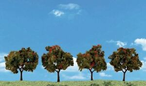 "WOODLAND SCENICS ALL SCALE APPLE TREE 2""-3"" (4) | BN | 3591"