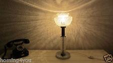 Tisch Lampe Leuchte Lampenschirm '60er/'70er Vintage