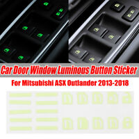 Door Window Button Decals Stickers Luminous For Mitsubishi ASX Outlander