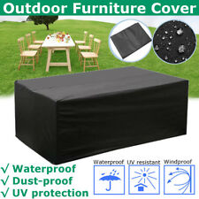 3.3mX2.2m Outdoor Polyester Waterproof Furniture Cover 8 Seater Rectangular
