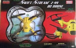 Swift Stream Z-44 RC Drone Outdoor 360° Stunt Helicopter 2.4 Ghz Remote Control