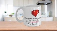 Personalized Coffee Tea Mug Anniversary Birthday Gift Husband Wife Girlfriend