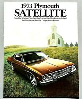 ORIGINAL 1973 PLYMOUTH SATELLITE FIRST EDITION SALES BROCHURE ~ 20 PAGES ~ PS73