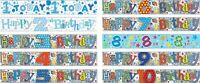 BIRTHDAY BANNERS KIDS AGE 1 2 3 4 5 6 7 8 9 10 BOYS BLUE/ MULTI DECORATIONS (SE)