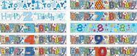 BIRTHDAY BANNERS KIDS AGE 1 2 3 4 5 6 7 8 9 10 BOYS BLUE/ MULTI DECORATIONS (SE)