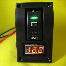 Voltmeter 12V dc LED Dual Battery Meter Test Panel Switch Car Boat Marine Volt B