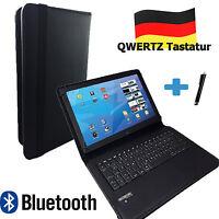 """Bluetooth Deutsche Tastatur Hülle für Acer Iconia One 10 B3 A20  10.1"""" Schwarz"""