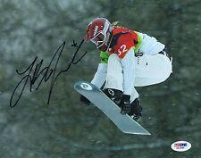LINDSEY JACOBELLIS HAND SIGNED SNOW BOARDING 8X10 W/ PSA COA AB18989