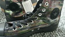 BNIB Converse Hi Tops UK 9 Limited Edition Rainbow Sparkle Black