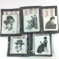 5 LaBlanche Foam Rubber Victorian Women Ladies Parlour Hats Steampunk Stamp Lot