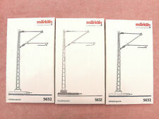 MARKLIN 5632: GAUGE 1 - THREE CATENARY MASTS - V.G.C. - BOXED