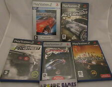 LOT 5 JEUX PS2 NEED FOR SPEED PROSTREET CARBON UNDERCOVER MOST WANTED (complets)