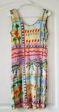 Jams World dress Size 7 Palm Trees Multicolor Sleeveles #1023