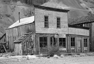 "1940 Ghost Town Pool Hall, Eureka, Colorado Old Photo 13"" x 19"" Reprint"