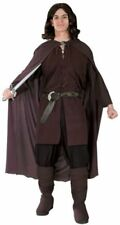 """Aragorn Costume Licensed """"Lord Of The Rings"""" 5 Pc Br Tunic Cloak Belt & Boot Top"""