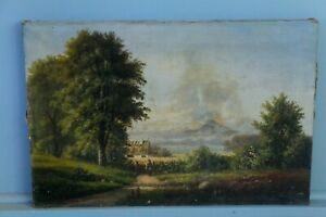 """Antique French Barbizon Oil on Canvas. Signed. 24.75"""" x 16.5"""""""
