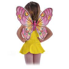 Paire d'ailes de papillon très colorée rose, jaune 6707 deguisement costume fee