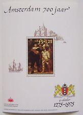 Erinnofilie 1975 - Blok Rembrandt Amsterdam 700 jaar postfris