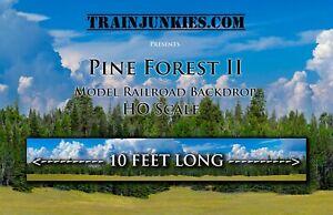 """Train Junkies HO Scale """"Pine Forest II"""" Model Railroad Backdrop 18""""x 120"""""""