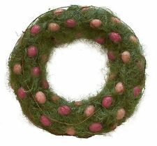 """Pink Easter Eggs Wreath Round 22"""" Wreath or Wall Decor"""