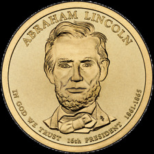 """2010 P Abraham Lincoln Presidential Dollar """"Brilliant Uncirculated"""" Coin US Mint"""