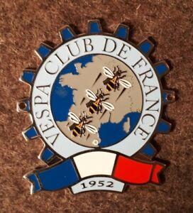 Vespa Plakette Faro Basso Rally Lampe unten , Vespa Club  Frankreich , France