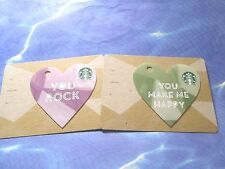 New for Sale - Starbucks Card  VALENTINE'S DAY  ( Key Chain Heart ) YOU Rock