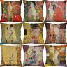 "18"" Oil Painting Cotton Linen Cushion Cover Wasit Home Decor Pillow Case"