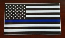 USA American Thin Blue Line Police Flag Decal Sticker. Buy 2 get 1 free!