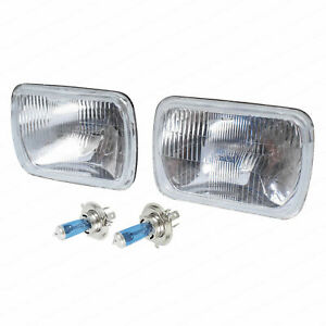 H4 Headlight Upgrade Kit fit for Hilux 83-05 2 Lamps Rectangle Hi Watt Globes