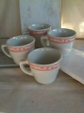 Jackson China Falls Creek PA, set of 4 pink edged coffee cups