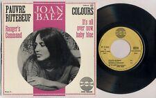 "JOAN BAEZ 'Pauvre Rutebeuf' 1965 French 7"" / 45 vinyl single EP"