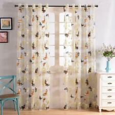 Printed Sheer Curtains Tulle Window For Living Room Bedroom Kitchen Voile
