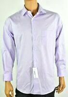 Van Heusen Mens Purple Dress Shirt New 16 32/33 Stretch Regular Fit Front button