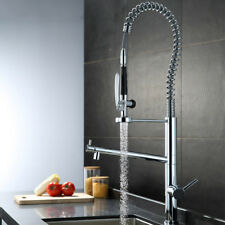 Pull Down Spray Chrome Single Handle Deck Mount Vessel Mixer Tap Kitchen Faucet