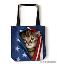 NWT Tote bag 18x18 image on both sides quality Patriotic Kitten