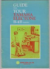 VINTAGE 1970 'GUIDE TO YOUR YAMAHA ELECTONE B-4B SERIES 20 pages